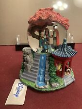 Walt Disney Snowglobe Snowdome Water Ball Mulan Reflection Music Box Mushu Shang