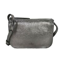 NWT KATE SPADE NEW YORK Holiday Lane Val Crossbody Bag Grey Glitter PXRUA038