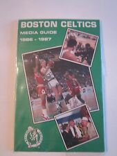 9 VINTAGE BOSTON CELTICS MEDIA GUIDES BOOKLETS - SEE PICS - BOX BPR2