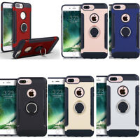 For iPhone X/XR/XS MAX/8/7/6 Shockproof Hybrid Hard Case With Stand Ring Holder