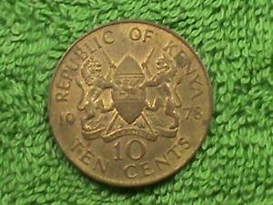 KENYA   10 Cents   1978   *
