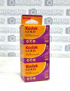 Kodak GOLD 200 Triple Pack 3 x 36 Exposure Colour Print Film - LIMITED STOCK