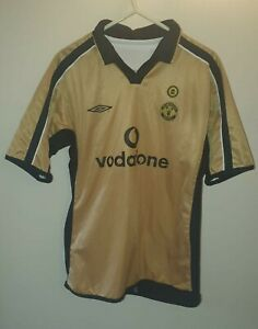 Manchester United Centenary, Gold Retro Football Shirt, 2001/2002 *VINTAGE*
