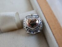 BN RARE RETIRED GENUINE PANDORA 14K & SS LTD ED 2011 BLACK FRIDAY CHARM-790591EN