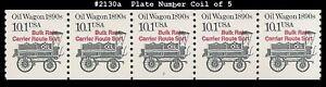 USA5 #2130a MNH PNC5 Pl #2 Oil Wagon