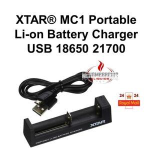 XTAR® MC1 Portable Li-on Battery Charger | USB 18650 21700