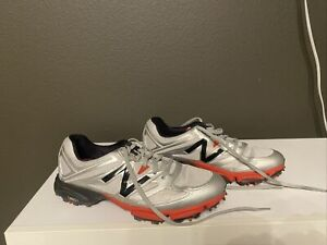 New Balance Men's Golf Shoes - Size 8 - NBG2003 Silver/Red