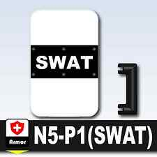 SWAT Shield N5 (W206)Riot compatible w/ toy brick minifigures Police Riot Shield