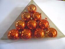 20 Orange 2.5 Inch Pack Shatter Resistant Christmas Fall Ornament Decoration