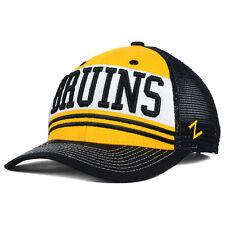 cheaper a0f59 1d4ee Boston Bruins Zephyr NHL Headline Mesh Hat Cap Snapback Trucker Authentic  Men s