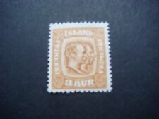 Iceland 1907 King Christian & Frederik 3a value yellow-brown MH  SG 82 see scans