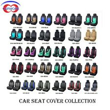 2 Front Universal Car Seat Covers Built-in Sponge Breathable Cushioned Washable