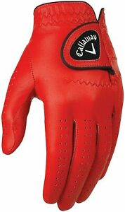 Callaway Golf Left Hand OptiColor Optifeel Leather Glove COLOR: Red SIZE: ML