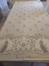 """Vent du Sud Made in France 100% Cotton Tablecloth 66"""" x 68"""" With Teflon!"""