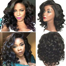 Fashion Short Curly Wigs For Women Heat Resistant Hair Synthetic Lace Front Wigs