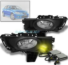 07 08 09 MAZDA 3 MAZDA3 SEDAN 4DR BUMPER FOG LIGHTS LAMPS CHROME W/3K HID+SWITCH