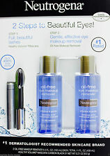 New ! 2PK Neutrogena Eye Makeup Remover Oil Free Plus Mascara Carbon Black 01