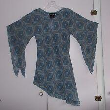 JUNIORS NO BOUNDARIES BLUE PAISLEY DRESS OR LONG TUNIC SIZE JUNIORS SMALL 3-5