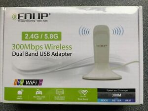 USB WiFi Adapter EDUP 300Mbps Wireless Network Dongle USB Adapter New