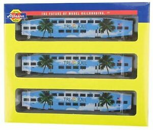 Athearn 10165 N Scale Tri Rail Passenger Set LN/Box