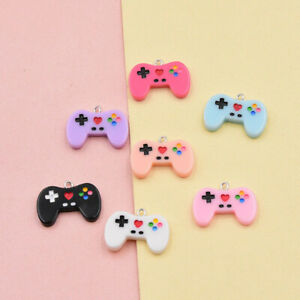 26x20mm Mix Lot Resin Charm Gamepad For Pendant Earring Making Art Craft 10 Pack