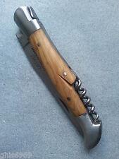 1 couteau LAGUIOLE 2 en 1, couteau pliable laguiole et tire-bouchon, lame 10 cm
