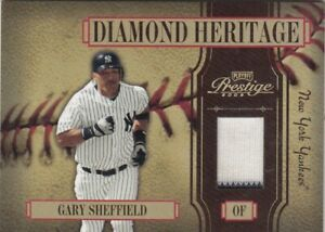 GARY SHEFFIELD NO:DH-11 JERSEY DIAMOND HERITAGE 2 colors 069/100 PLAYOFF 2005