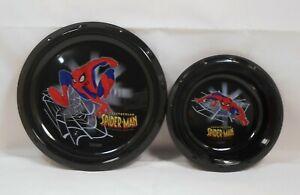 Mealtime Set SPIDERMAN Black Plate Bowl S2