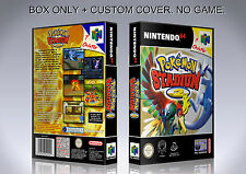 POKEMON STADIUM 2. PAL ENGLISH. Box/Case. Nintendo 64. BOX + COVER. (NO GAME).