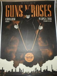 Guns N'Roses Lithography CHORZOW POLAND 09.07.2018 Limited 100 pieces