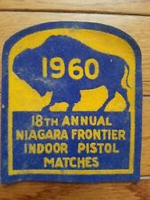 1960 Frontier Indoor Pistol Match Patch