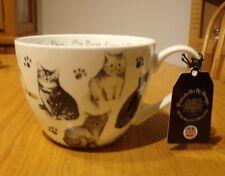 Portobello by Design Jumbo Cat Coffee Mug Cup My Best Friend Has Four Paws  NWT