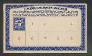 UNITED STATES (US) PS5 10c DEEP BLUE ON DEPOSIT CARD SCARCE