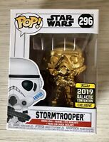 Funko POP! Star Wars #296 Gold Chrome Stormtrooper 2019 Convention Exclusive