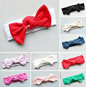 Bow Top Knot Headband for Baby Girl Toddler Newborn Turban Accessories