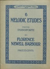 6 MELODIC STUDIES for the Pianoforte by Florence Barbour Schmidt's No. 131 ©1913