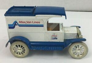 1913 FORD MODEL T VAN BANK - 1986 ERTL LIM.ED. 1:25 SCALE  #3419 ATLAS VAN LINES