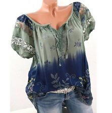 Women Short Sleeve Lace Floral Blouse Top T-shirt Tank Casual Summer Clothes