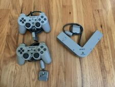 PlayStation PS1 2 Controllers and Multi Tap Bundle Lot