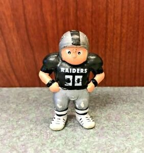 "Raiders NFL 1.75"" PVC Action Figure Keychain, Lil' Sports Brat, TM 1987 no chain"