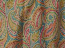 Fancy, Large Paisley Designs On Turquoise, Pink, Green, Handmade Window VALANCES