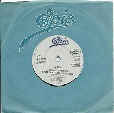"""Michael Jackson:I just can't stop loving you/Baby be mine:7"""" Vinyl Single:UK Hit"""