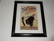 "Large Framed Neil Young Harvest 1971 Tour Poster, Stratford CT 24"" by 20"""