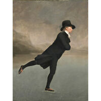 Raeburn Skating Minister Duddingston Painting Canvas Wall Art Print Poster