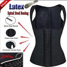 US 100% Latex Underbust Slim Body Shaper Waist Cincher Corset Trainer Vest Plus