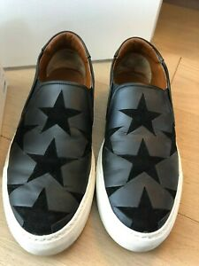 Givenchy - Black Suede  Stars Street Skate Slip-On Sneakers, Size 44, US 11