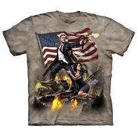 Adult Men's The Mountain Bill Clinton President Patriotic USA America Tee Shirt