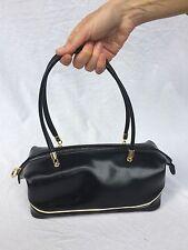 REDWALL originale borsa in vera pelle saffiano colore nero vintage