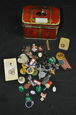 1940's Jun Drawer Contents Old Buttons Pins Ribbons - (1940s) ITB WH