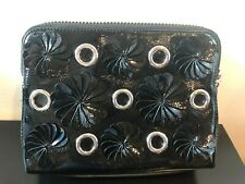 NEW 3.1 PHILLIP LIM EMBELLISHED PATENT LEATHER COSMETIC BAG MAKEUP BAG CASE